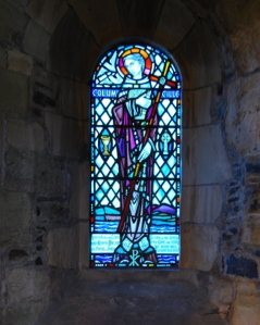 St Columba (Columkille) window from the abbey church in Iona